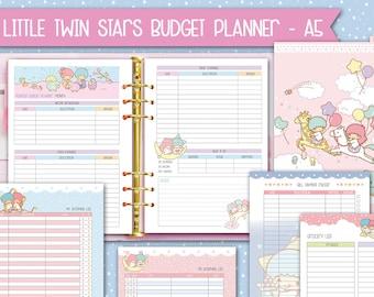 Printable a5 kakebo Budget planner kawaii inserts filofax a5 finance inserts budget inserts expense tracker bill tracker money planner