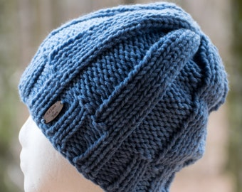 Satin Lined Winter Hat - Rib Knit Beanie for Men   Women - Pom Pom Sold  Separately - Non Wool Lined Toboggan or Ski Hat in 30 Custom Colors 5fc696835358