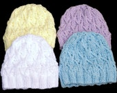 Kid 39 s Satin Lined Knit Hat - Extra Small Pastel Beanie with Unlined Brim - Baby Winter Hat for Frizz Free Hair - Pom Pom Sold Separately