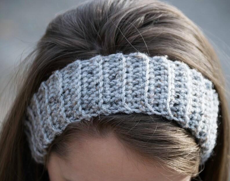 f1fe8448846 Gray Winter Head Warmer Satin Lined Headband Ear Warmer