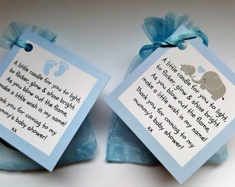 10  Ready Made Baby Shower Favours With Poem /& Charm For Baby Girl Pink