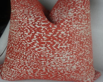 Red Beige Chenille Pillow Cover, Home Decor Decorative Red Throw Pillow, Red Cushion Cover, Home Living, 00301