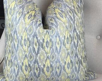 Decorative Yellow Gray Pillow Cover, Yellow Throw Cushion, Housewares Decor, Home Living, Pillow Decor, Yellow Accent Pillows 0035