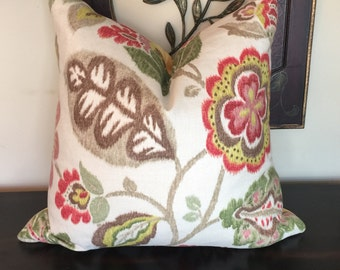 Floral Throw Pillow, Yellow Pillow Cover 22 x 22, Decorative Pillows, Floral Cushion Cover, Housewares Decor, Floral Cushion, Pillow 22 x 22