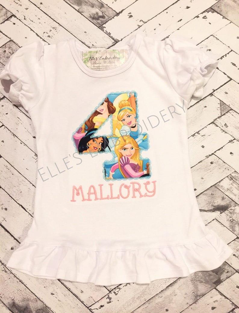 Princess Birthday Shirt Party Personalized