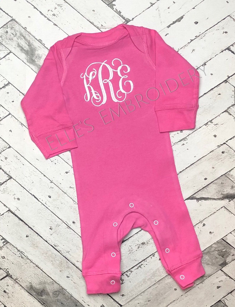 Monogrammed baby romper monogrammed baby boy outfit Baby boy coming home outfit Newborn picture outfit Navy baby outfit