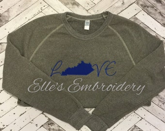 Love Kentucky state vintage sweatshirt