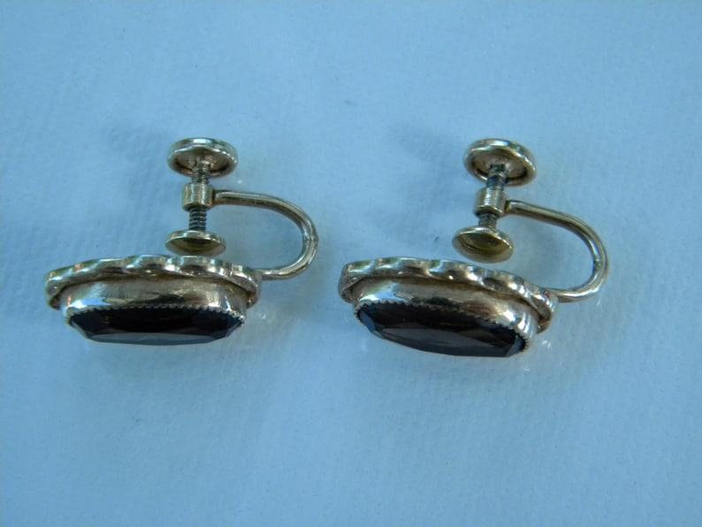 Elegant Smokey Quartz Screw Back Earrings 120 12k Gold Filled