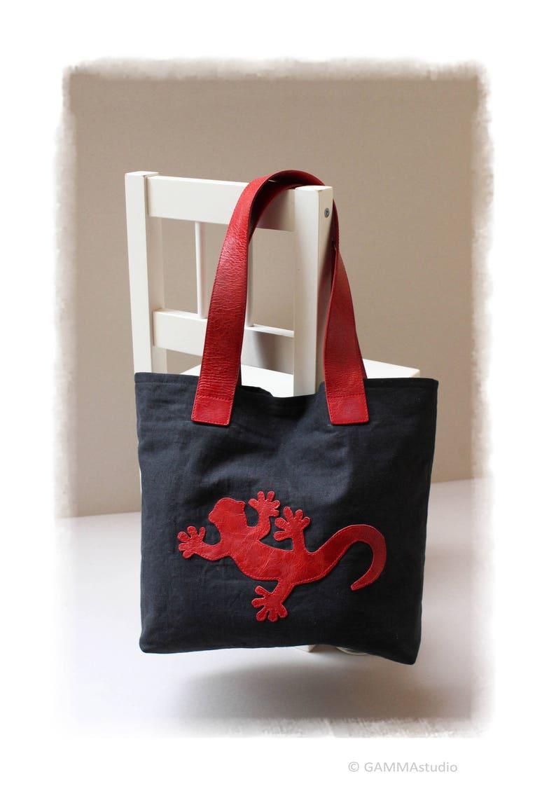f27d09210d875 Medium Hobotasche Gecko Taschen Leinen Tasche vegane
