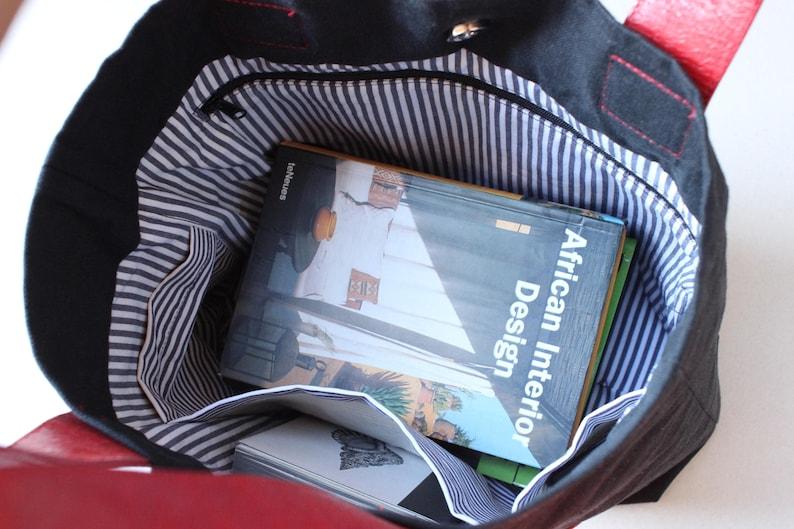 Linen Bag Code: Gecko-01 Leather Bag vegan Bag Gecko bags Shoulder bag Medium Hobo Bag Gift Idea Red bag Casual bag Dragon bag