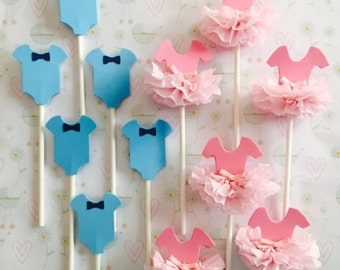 Boy Or Girl Ties Or Tutus Pink Or Blue Gender Reveal Gold Etsy