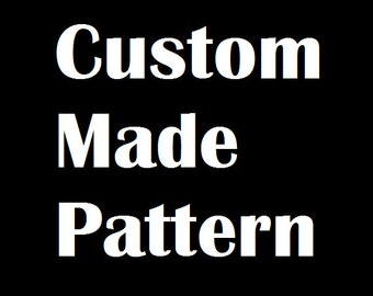 Custom made book folding pattern, any picture or word, any size book