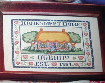 Country Cottage cross stitch pattern from OOP cross stitch Magazine