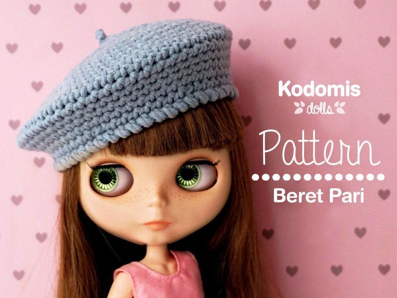 Patrón PDF Boina Pari para Blythe DIY  5214813e8bb