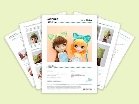 Patrón PDF Gorro Neko para Blythe DIY  c6a68e63454