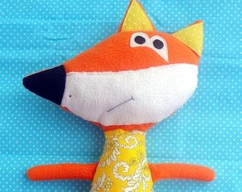 Fox, toy, soft toy, fleece toy
