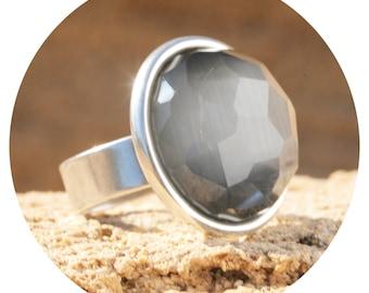 Artjany Ring Crystal Grey Silver
