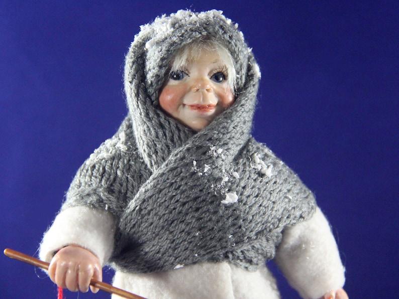 ccfc10835fcbd Svetlana little Russian girl in winter outfit. OOAK polymer | Etsy