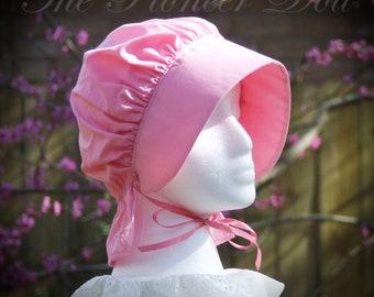 LITTLE GIRLS Bonnet Pink Frontier Pioneer Reenactment  Brim, Long Neck cover