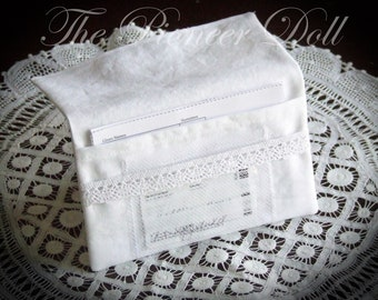 Youth Temple Card and Recommend Envelope *Cotton* for Young Women or Young Men Baptism Name Pocket