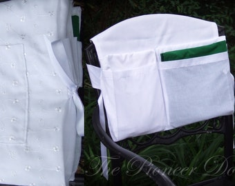 Fits Over Your Chair, LDS Temple Envelope *Classic Eyelet* Temple Bag for WOMEN, with temple card pocket, organizes Endowment Clothing
