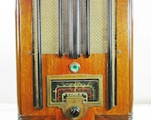 RCA model T 7-1 (1939) antique tombstone radio am shortwave with mini-jack installed and BLUETOOTH AVAILABLE