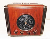 Zenith Radio 5-S-126 quot Cube quot (1936) am shortwave antique radio with a mini-jack installed and BLUETOOTH AVAILABLE