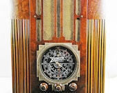 Zenith 9-S-30 Tombstone (1936) antique radio with am shortwave with a mini-jack installed and BLUETOOTH AVAILABLE