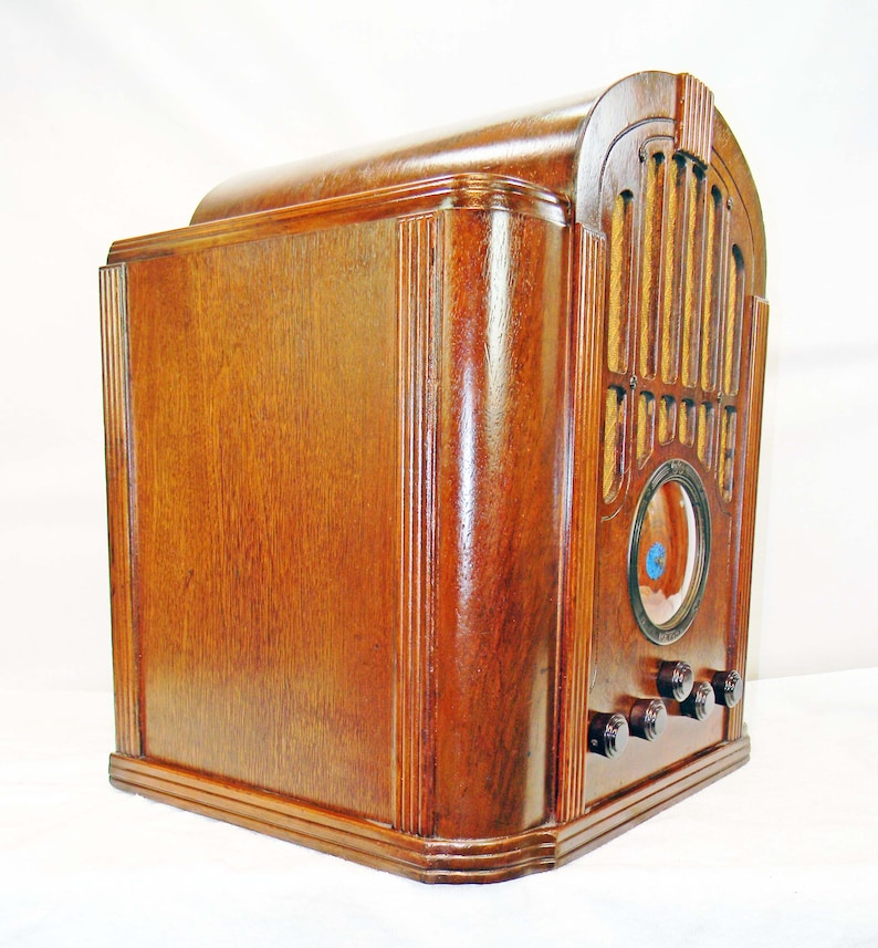 RCA Model 143 Tombstone Radio (1934) am/shortwave with mini-jack installed  and BLUETOOTH AVAILABLE!