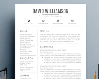 Resume Template | CV Template with Cover Letter and Reference Letter for Word | Modern Resume | Instant Digital Download | Mac or Pc