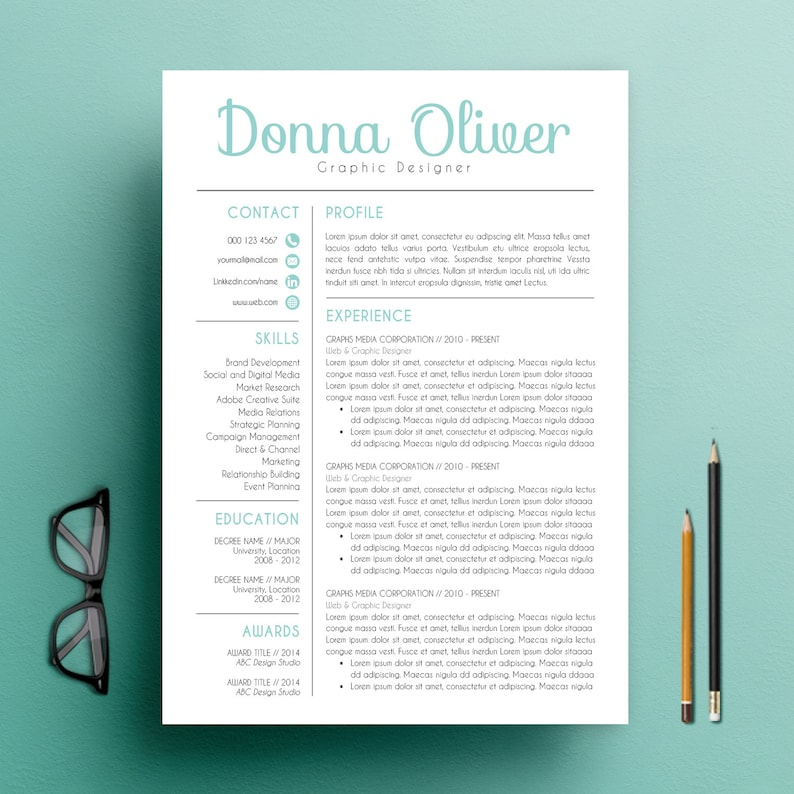 Modern Resume Template  CV Template and Cover Letter Template image 0