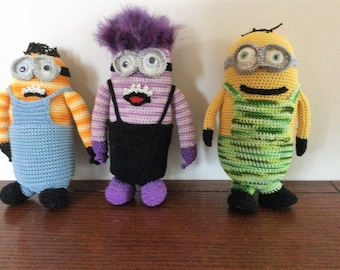 Hand Crocheted Minion Dolls