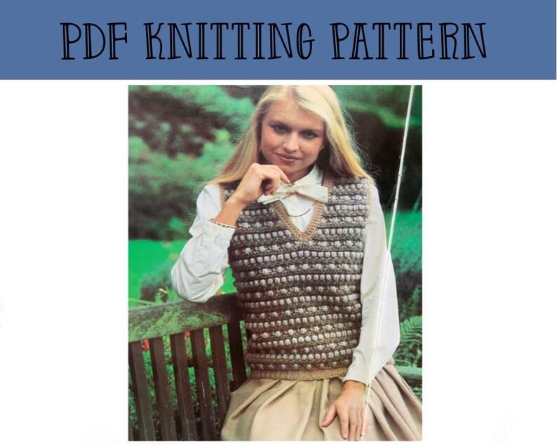 v neck  pattern Crochet jumper pdf knitting pattern Knitted  jumper pattern crochet tutorial crochet pullover download
