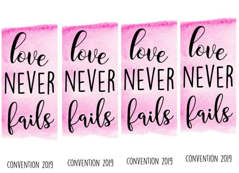 Love Never Fails 2019 convention book mark jw IBSA printable bookmark gift  children child download digital SVG JPG