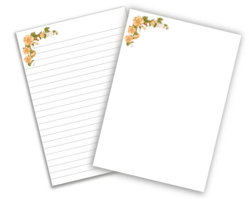 best life ever floral notepaper Jw baptism pioneer gift zoom ministry JW printable letter writing paper
