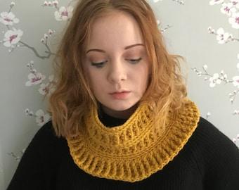 PDF crochet pattern - cowl pattern - crochet cowl - neckwarmer pattern- crochet neckwarmer