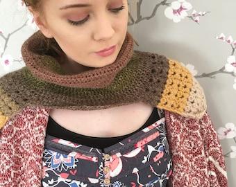 PDF pattern - crochet pattern - cowl pattern - poncho pattern - crochet cowl - crochet poncho - crochet neckwarmer - neckwarmer pattern
