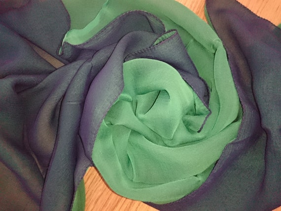 NEW Olive brown 100/% silk floaty chiffon scarf