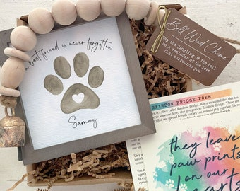 A best friend is never forgotten pet memorial, Pet loss gift, Personalized cat or dog memorial, Loss of dog sympathy, Rainbow Bridge Poem