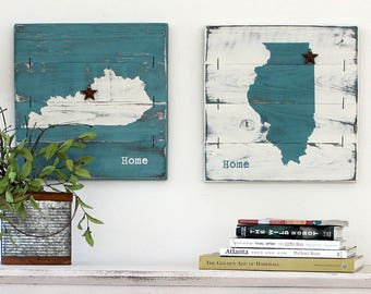 WOOD STATE wall art, 1 state, personalized wood state sign, wood state decor, State Art, Wood State Sign, Moving Gift, Housewarming Gift
