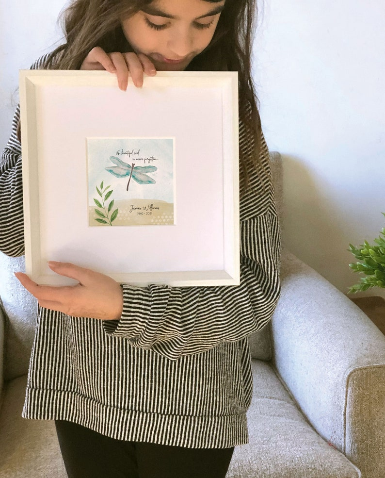 5 painting sympathy dragonfly painting personalized 10 frame a beautiful soul is never forgotten DRAGONFLY MEMORIAL GIFT