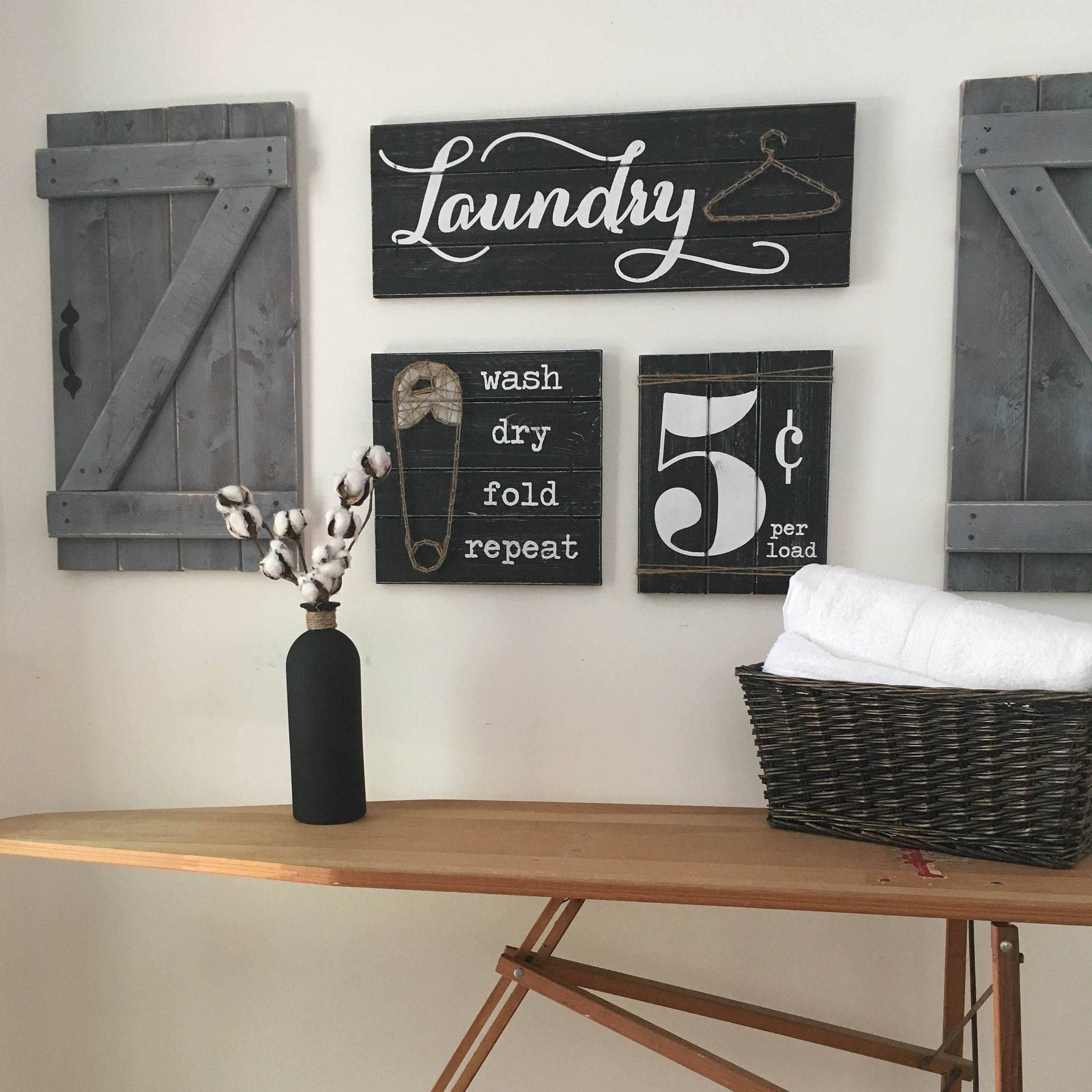 Laundry Room Signs Set Of 5 Laundry Room Decor Laundry Room Decor Signs Rustic Laundry Room Decor Laundry Sign Wood Laundry Sign