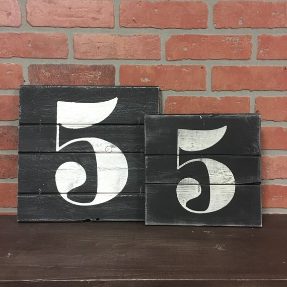 NUMBER WALL ART Rustic house numbers Subway numbers Number | Etsy