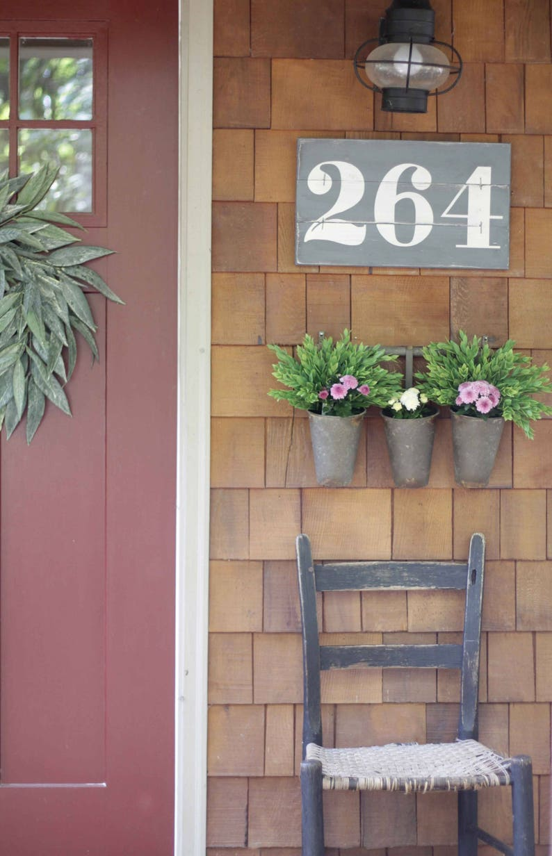 RUSTIC ADDRESS NUMBERS House numbers Subway numbers Number image 0