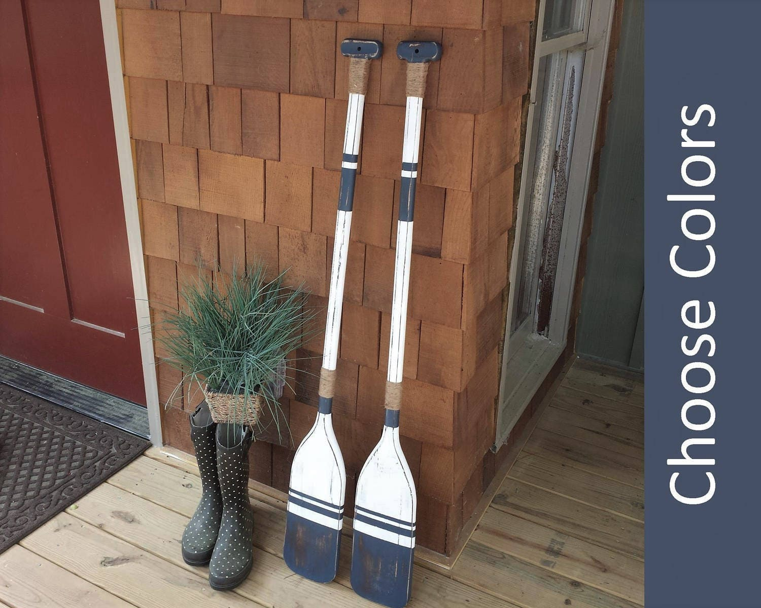 Wooden Oars Pair Of Oars 2 Oars 48x5 Decorative Etsy