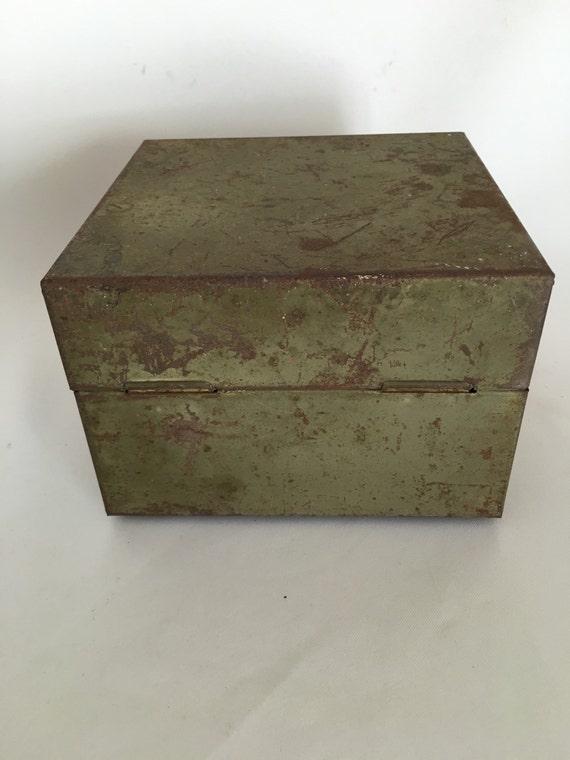 Vintage Industrial Workshop Metal Tool Box, ASCO, Art Steel Company, Metal  Storage Box