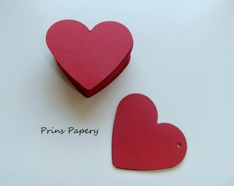 Valentine Red Heart Gift Tags Name Tags