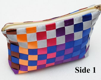 Beauty Gift Clothing Gift Coworker gift  Travel gift Makeup bag organizer Cosmetic bag Womens Gift ideas Tote Rainbow Cosmetic case pouch
