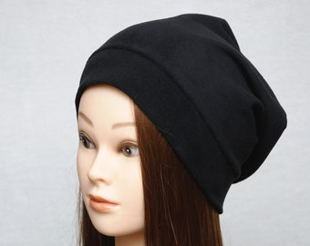 9 colors Unisex hats Black slouchy hat Oversized hat teen hat fleece beanie Slouch Beanie Mens hats jersey hat Mens gift Womens gift for her