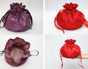 Drawstring Candy bag for Sweets bag Jewelry bag Travel Tote Fabric Pouch Fabric Bag Bath Tote Cosmetic Bag Womens Bath Bag Sister Gift Bag